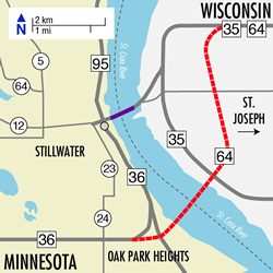 St. Croix River bridge crossing location